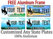Wyoming State License Plate Personalized Custom Any Name Or Text