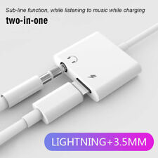 Charge+Headphone Jack Converter Adapter 2 in1 Lightning to 3.5mm Aux Audio Cable