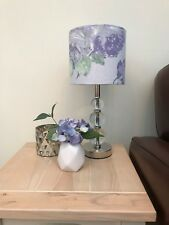 Violetta Silver White Floral Patterned Drum Lampshade Laura Ashley Fabric 3 size