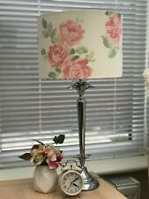 Pink Roses Floral Patterned Drum Lampshade Laura Ashley Albertine Blush Fabric