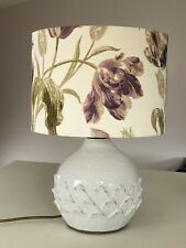 Plum Floral Pattern Drum Lampshade Laura Ashley Gosford Ceiling Table/Floor Lamp