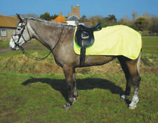 Rhinegold Hi Viz Yellow Waterproof 3/4 Ride-On Horse Exercise Rug Cotton Lined