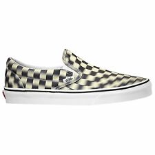 fa6d1e5aa7eba1 Vans Authentic Classic Checkerboard Unisex Footwear Slip Ons - Black White