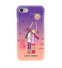 Personalised - Valentine Couple - Hearts - Glossy Phone Cover Case. iPs & GS