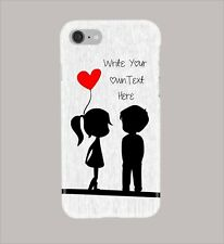 Personalised - Valentine Couple, Red Hearts. Glossy Phone Cover Case. iPs & GS