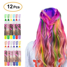 WloveTravel Hair Chalk for Girls Kids Gifts, DIY Temporary 12pcs Colour Set Colo