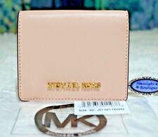NWT Michael Kors JET SET TRAVEL Flap Card Holder Wallet In BALLET Leather $118