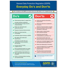 VSafety GDPR Made Simple: Do's & Don'ts Poster - A2