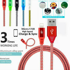3FT/1M Strong Braided Charger Cable Data Sync Cord For iPhone 5 5S 6 7+ 8 Plus