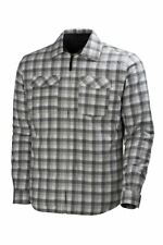 Helly Hansen Mens Adult Vancouver Jacket Grey Check Insulated Warm Shirt Style