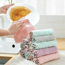 Soft Kitchen Towel Double Sided Microfiber Cleaning Cloth Super Absorbent 1pcs
