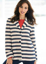Great Quality Weave Textured Nautical Stripe, Oversized Boxy Jacket NEW (£75)