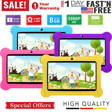"7"" Kids Tablet PC Android 4.4 Quad Core 1.3Ghz 8GB Dual Camera Bundle Case USA"