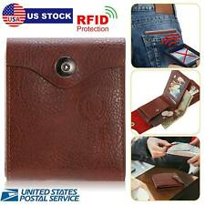 Mens Slim Leather Bifold Wallet Pockets ID Credit Card Holder Money Clip Purse