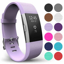 Replacement Watch Strap Silicone Soft Band Buckle Wristband for Fitbit Charge 2