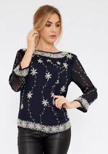 Embellished Long Sleeve Top