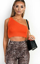 IKRUSH Womens Hayley One Shoulder Knitted Crop Top