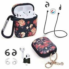 Airpods Case - 7 in 1 Airpods Accessories Set Compatible with Apple AirPods