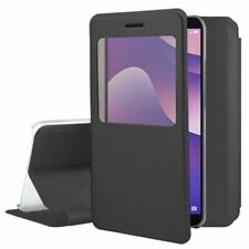 OFFICIAL Smart View Leather Window Flip Case Stand Book Cover For Huawei Y7 2018