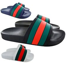 f4431cf52c97 MENS SUMMER FLIP FLOPS SLIDERS DESIGNER BEACH MULES POOL SLIP ON SANDALS  SHOES