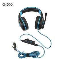 Big Deep Gaming Stereo Earphones Headsets Headphones with Light Mic Durable NEW