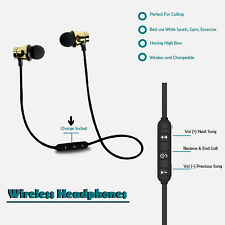 Sports In-Ear Wireless Earphones 4.2 Stereo Bluetooth Headphones Headsets W/ Mic