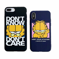 Lovely Cartoon Garfield Soft UNBreak Phone Case Cover For Apple iPhone 6-XS Max