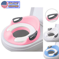 Potty Trainer Toilet Chair Seat For Kids Boys Girls Toddlers - Cushion Handles