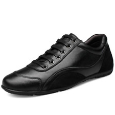 Mens Casual Lace Up Leather Sneakers