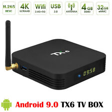 TX6 Android 9.0 6K 16/64GB Smart TV Box Quad Core WiFi Media Player US Keyboard