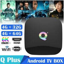 Q Plus TV Box Android 9.0 4GB/64GB 6K H.265 Media Player WiFi Set Top Box J8R0