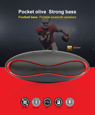 Rugby Bluetooth Speaker Wireless Portable Stereo Bass Speakers Hands Free Calls