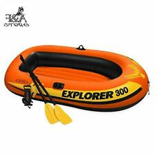 Rubber Boat FANDA Explorer 300, 3-Person Inflatable Boat Set with French Oars