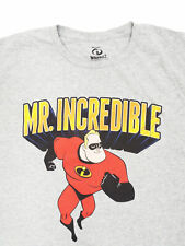 Mr. Incredible- T-shirt (2XL) Incredibles movie Heather Gray- tee NEW!