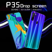 P35 Pro Smartphone 3GB+64GB Unlock 16MP Face ID Mobile Phone Android 9.1 4800mA