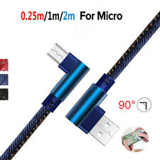 Micro USB 90 Degree Fast Charging Data Sync Charger Cable Lead For Samsung Hot