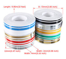 New 12mm 32ft Vinyl Pinstriping Pin Stripe Double Line Car Tape Decal Stickers