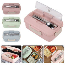 3 Compartments Lunch Box For Kids Adults Food Container Set Bento Storage Boxes