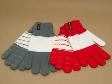 Heritage Traditions Ladies Womens Red Button Cuff Check Gloves