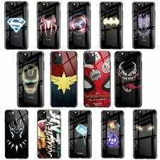 Luxury Spiderman Batman Luminous Tempered Glass Phone Case For iPhone XR XS MAX