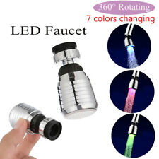 Kitchen Glow RGB Shower Water Faucet Water Tap Temperature Sensor Led Light