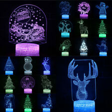 3D LED Creative Christmas USB 7Color table Night Light Lamp Bedroom Child gift