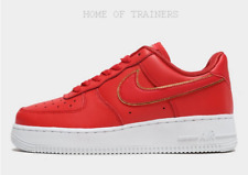 Nike Air Force 1 '07 LV8 Red White Girls Women's Trainers All Sizes
