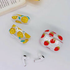 Fruits plastic Wireless Bluetooth Earphone Case charging  For Apple AirPods Pro