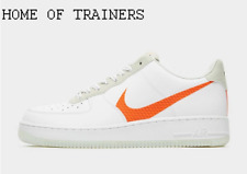 Nike Air Force 1 '07 LV8 White Orange Men's Trainers All Sizes