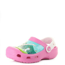 Girls Kids Crocs Frozen Fever Party Pink Oyster Fun Clogs Sandals Size
