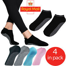 Non-slip Yoga Socks Exercise Gym Barre Ballet 4 X Toe Support Cotton Pilates UK