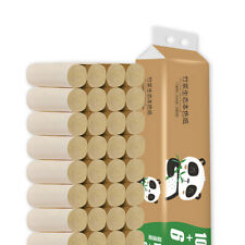16-64Rolls Toilet Paper Thickened Household Roll Paper Bamboo Pulp Coreless CA11