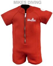 TWO BARE FEET Baby Wetsuit kids sunsuit swimming RED