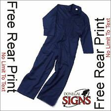 NAVY NEW QUALITY PORTWEST BOILERSUIT FREE PERSONALISED PRINT LOGO ALL SIZES
